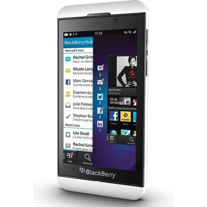 blackberry z10 blanc achat smartphone pas cher avis et meilleur prix cdi. Black Bedroom Furniture Sets. Home Design Ideas
