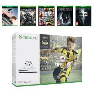 CONSOLE XBOX ONE NOUV. Xbox One S 500Go + 6 jeux : FIFA 17 + Forza Horizo
