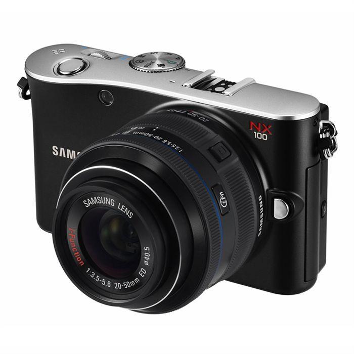 APPAREIL PHOTO COMPACT SAMSUNG NX100 Noir + objectif 20-50mm