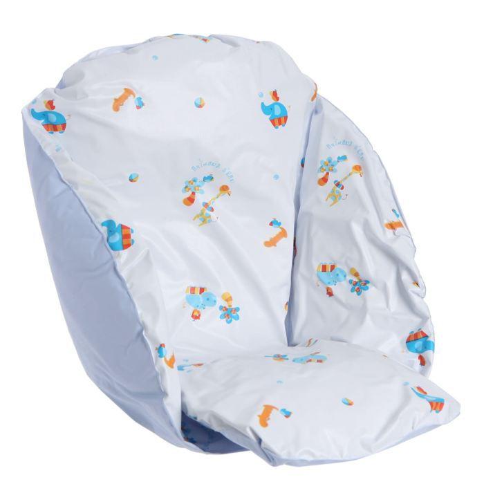 roudoudou coussin de chaise flocons blanc bleu achat vente chaise haute roudoudou coussin de. Black Bedroom Furniture Sets. Home Design Ideas