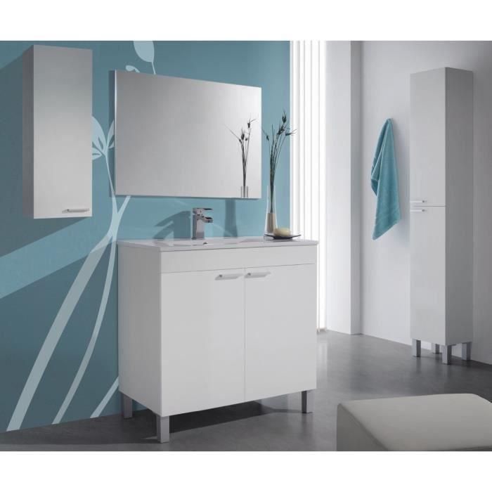 Koncept ensemble meuble salle de bain 80cm blanc for Meuble 80x50