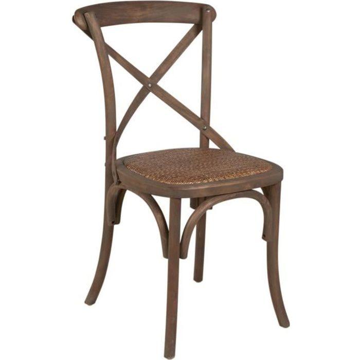 Romance chaise de salle manger en bouleau et rotin for Chaise en bois et rotin