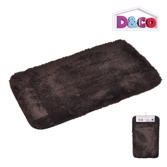 TAPIS DE BAIN  Tapis de bain chinchilla mat choco 80x50x3cm D&CO