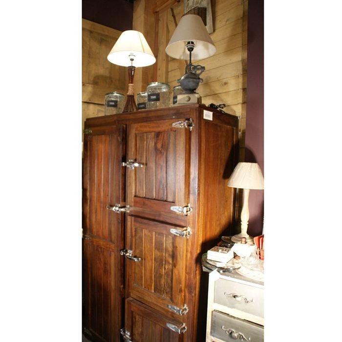Frigo de boucher en bois maison design - Meuble frigo ancien bois ...