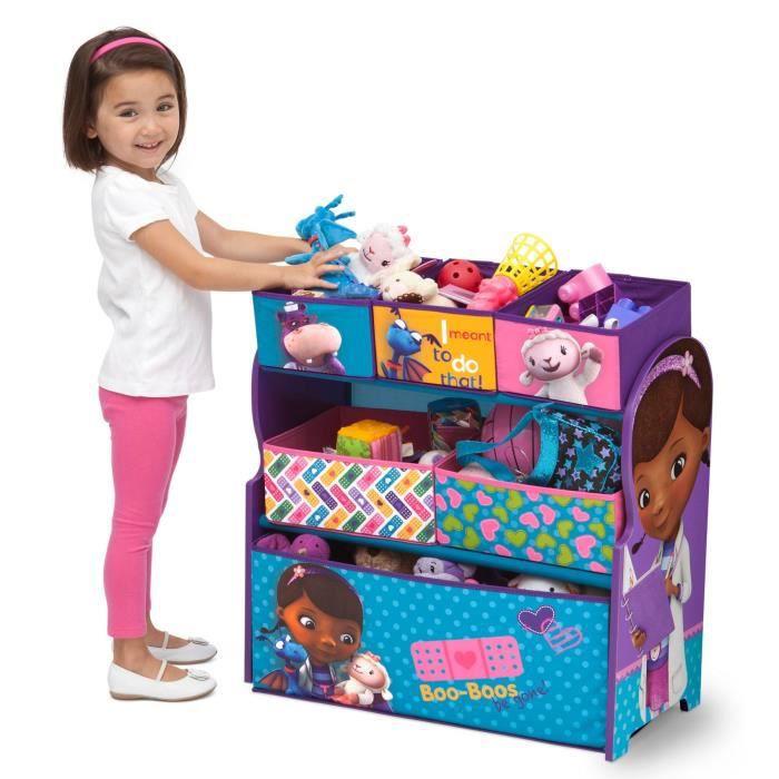 Doc la peluche meuble de rangement enfant jouets 6 bacs - Jouet doc la peluche ...