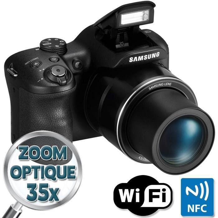 APPAREIL PHOTO BRIDGE SAMSUNG WB1100F Noir - CCD 16MP Zoom 35x Appareil