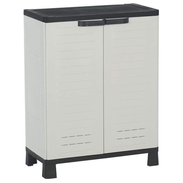 Allibert airspire armoire de rangement basse achat for Armoire exterieur plastique