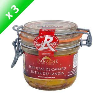 FOIE GRAS Foie Gras de Canard Entier Label Rouge 320g x3