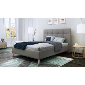 lit 140 x 190 achat vente lit 140 x 190 pas cher cdiscount. Black Bedroom Furniture Sets. Home Design Ideas