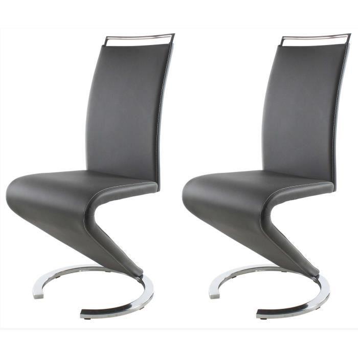 Sidney lot de 2 chaises de salle manger achat vente - Lot 6 chaises salle a manger ...