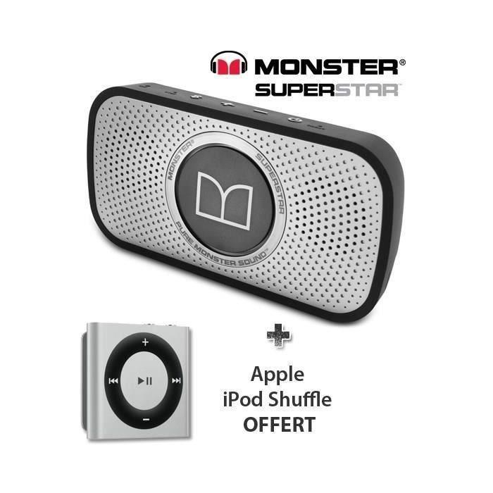 monster superstar enceinte bluetooth gris ipod casque. Black Bedroom Furniture Sets. Home Design Ideas
