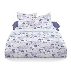 Parure de lit 200x200 violet achat vente parure de lit 200x200 violet pas cher cdiscount - Housse de couette mauve ...