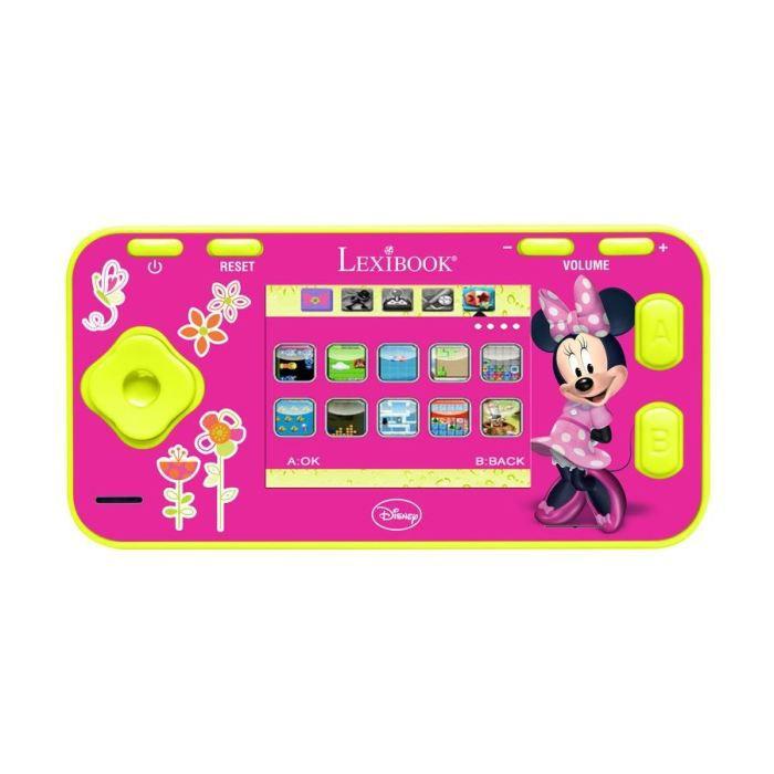 Minnie console couleur 120 jeux lexibook achat vente tablette enfant cdiscount - Console de jeux lexibook ...