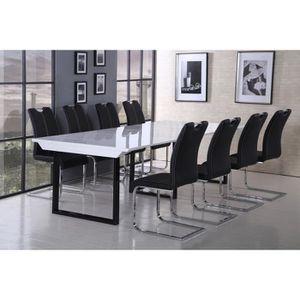 CONSOLE EXTENSIBLE BACK Table console extensible 120x50-250cm noir et