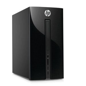 UNITÉ CENTRALE  HP PC de Bureau - 460p000nf - Noir - 4Go de RAM -
