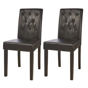 CHAISE PRISCILIA Lot de 2 chaises de salle à manger en si