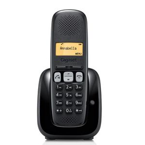 Téléphone fixe Gigaset A250 Solo Noir Sans Répondeur