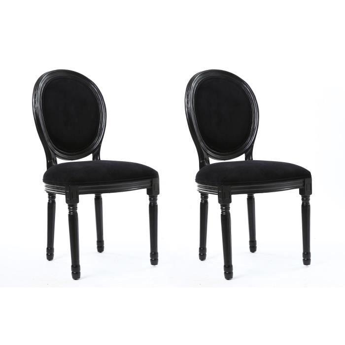 Versailles lot de 2 chaises de salle manger en tissu for Chaises salle a manger 2 main