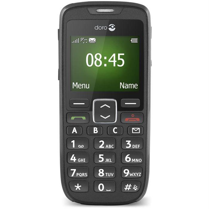 doro 510 noir t l phone portable avis et prix pas cher. Black Bedroom Furniture Sets. Home Design Ideas