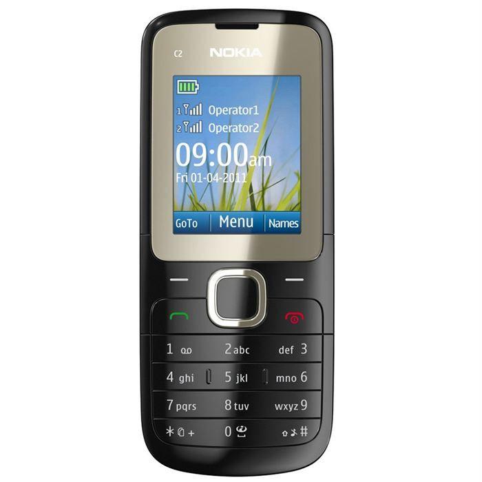 nokia c2-00 noir - achat t u00e9l u00e9phone portable pas cher  avis et meilleur prix