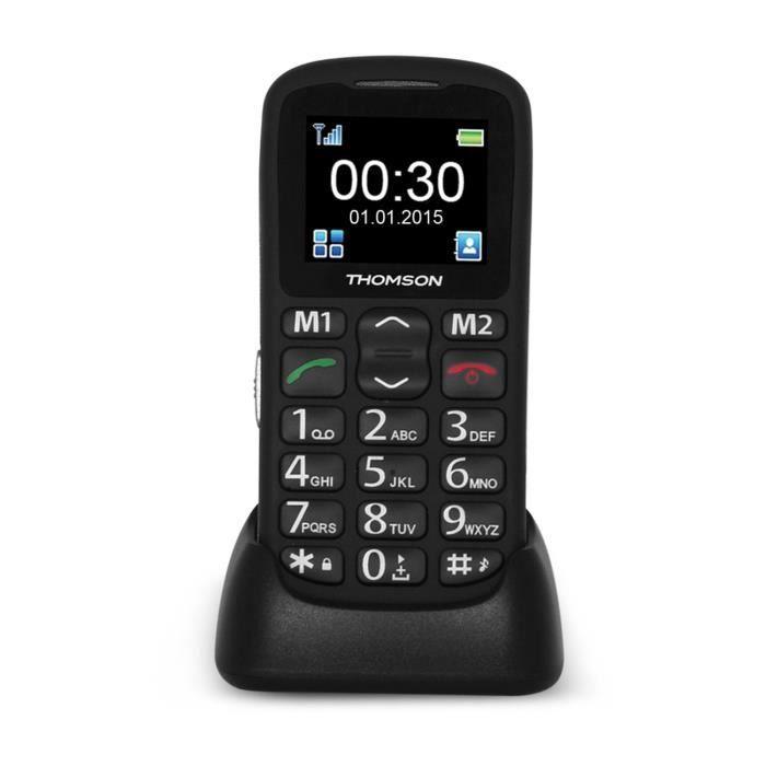 thomson serea 50 noir t l phone senior t l phone portable prix pas cher cdiscount. Black Bedroom Furniture Sets. Home Design Ideas