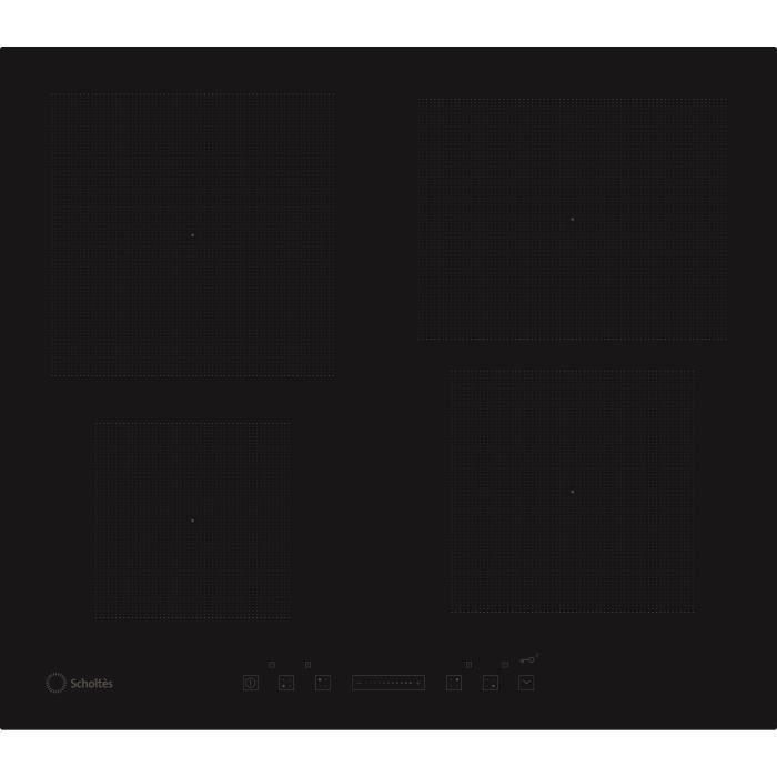 scholtes tis 640 o a table de cuisson induction 4 zones 7200 w l58 x p51cm rev tement. Black Bedroom Furniture Sets. Home Design Ideas
