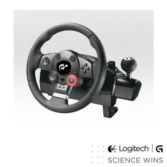 destockage logitech volant de course driving force gt pc ps3 joystick manette au meilleur. Black Bedroom Furniture Sets. Home Design Ideas