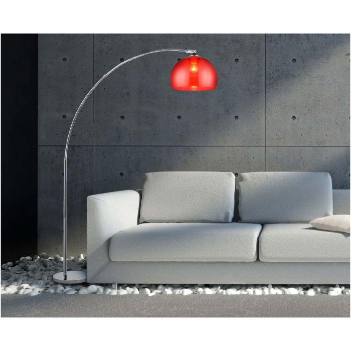 lampadaire arc rouge hauteur 166cm achat vente. Black Bedroom Furniture Sets. Home Design Ideas