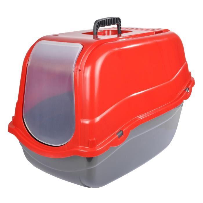 Maison de toilette couvercle 57x39xh41 cm rouge pour chat achat v - Couvercle de toilette ...