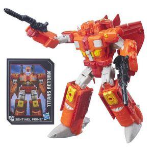 FIGURINE - PERSONNAGE TRANSFORMERS Titans War Sentinel Prime 18cm