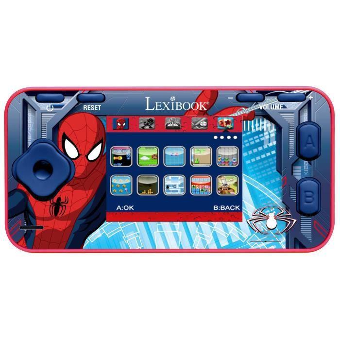 Spiderman console de jeux couleur achat vente console ducative cdiscount - Console de jeux lexibook ...