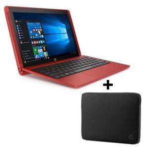 ORDINATEUR 2 EN 1 Pack HP PC portable- x2 10n130nf - rouge -10,1'- 2