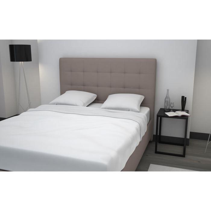 finlandek lit adulte devv 160x200 taupe achat vente. Black Bedroom Furniture Sets. Home Design Ideas