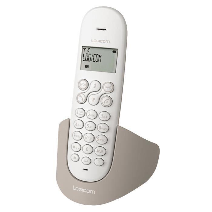 logicom luna 150 solo taupe achat t l phone fixe pas cher avis et meilleur prix cdiscount. Black Bedroom Furniture Sets. Home Design Ideas