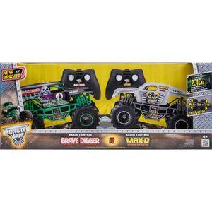 VOITURE À CONSTRUIRE Lot de 2 voitures Telecommandées Monster Jam Twin