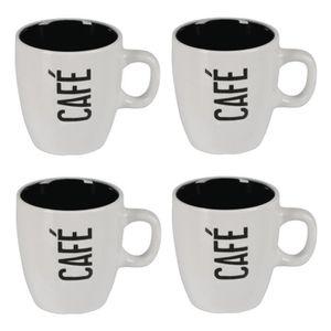 BOL - MUG - MAZAGRAN Lot de 4 mugs céramique CAFÉ CRÈME 0,14L blanc
