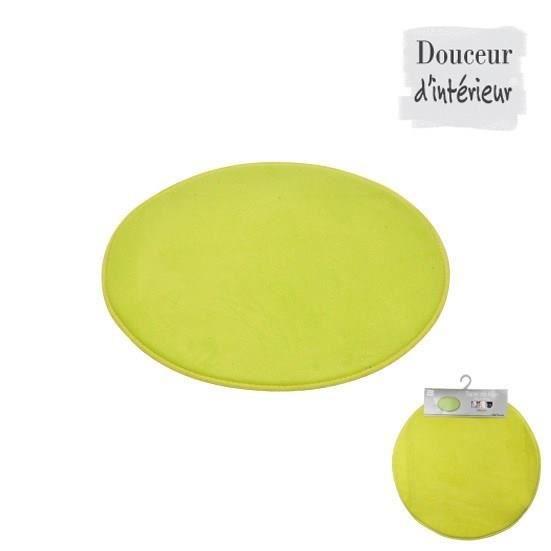 tapis de bain rond vert anis diam tre 60cm achat vente tapis de bain synth tique cdiscount. Black Bedroom Furniture Sets. Home Design Ideas