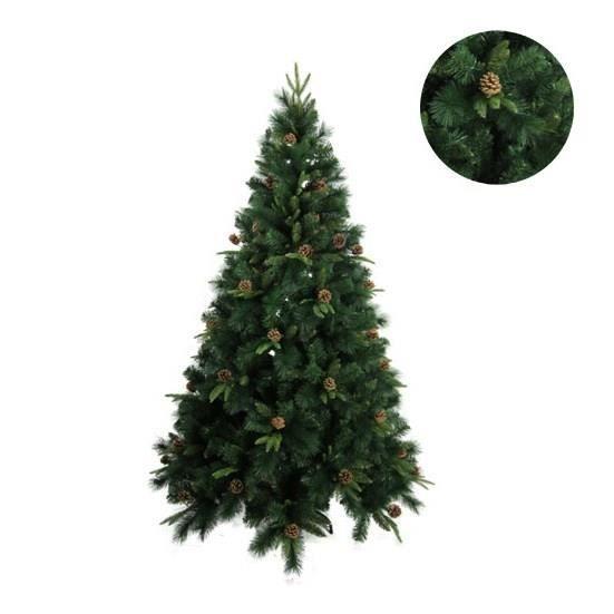 Foret enchantee sapin de no l luxe montr al 550 branches 165 cm vert achat vente sapin - Sapin de noel artificiel de luxe ...