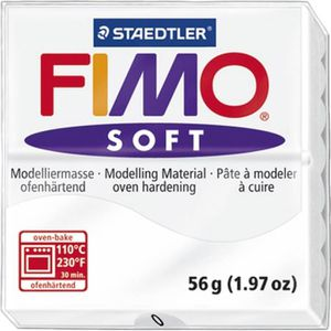 STAEDTLER Pâte ? modeler ? cuire Fimo Soft bloc 56 g blanc