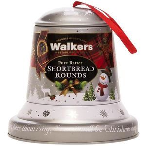 BISCUITS SECS WALKERS Shortbreads Christams Bell Boite Fer 100g