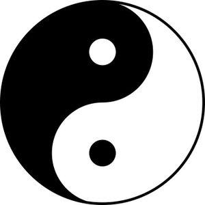 Autocollant yin yang achat vente autocollant yin yang for Decoration murale yin yang