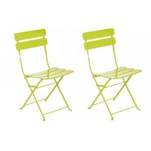 chaise jardin pliante metal vert achat vente chaise jardin pliante metal vert pas cher. Black Bedroom Furniture Sets. Home Design Ideas