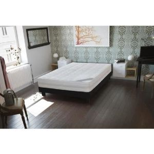 lit 1 place avec sommier et matelas noir achat vente lit 1 place avec sommier et matelas. Black Bedroom Furniture Sets. Home Design Ideas