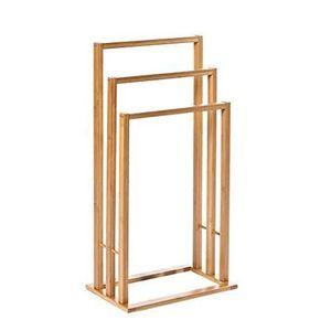 Porte serviette salle de bain bambou achat vente porte - Porte serviette echelle bambou ...