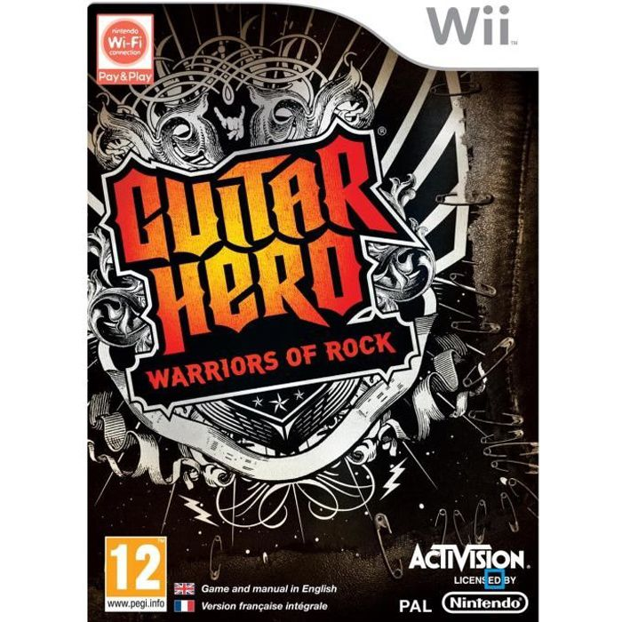 JEUX WII GUITAR HERO : Warriors of Rock / Jeu console Wii