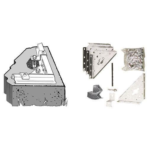 kit d 39 ancrage sur sol b ton ak100 pour abri m tal achat. Black Bedroom Furniture Sets. Home Design Ideas