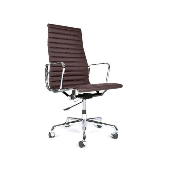 Eames alu ea119 marron fonc achat vente chaise de for Soldes eames