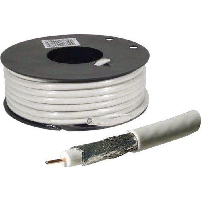 Coaxial Cable Labels : C ble coaxial pour antenne tv satellite m