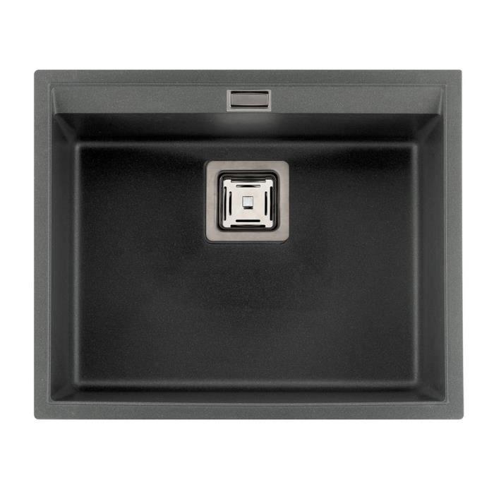 vier granit gris alu aquasanita delis 1 bac achat vente evier de cuisine vier granit gris. Black Bedroom Furniture Sets. Home Design Ideas