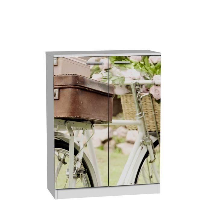 armoire meuble chaussures de 2 portes et 6 t achat vente meuble chaussures armoire. Black Bedroom Furniture Sets. Home Design Ideas